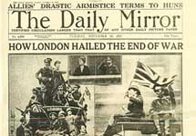 Daily Mirror, 1918 год. Фото с сайта www.learningcurve.pro.gov.uk